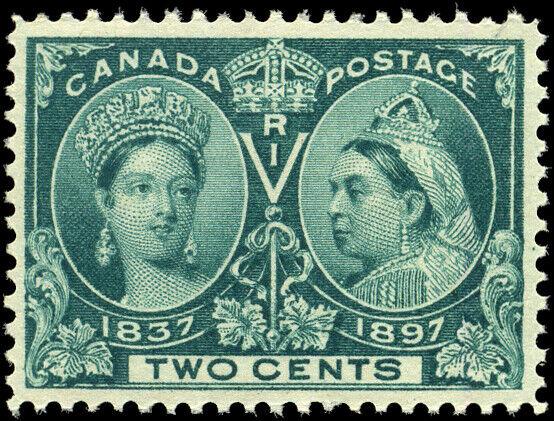 Canada #52 mint VF OG NH 1897 Queen Victoria 2c green Diamond Jubilee