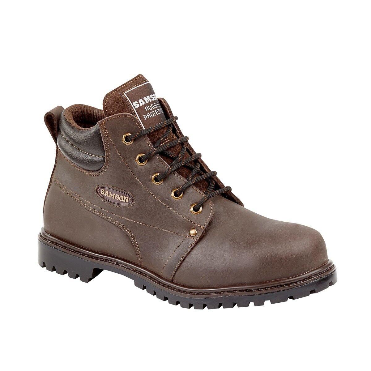 Samson 7704 Ciré marrón 5 Œillet zapatos Travail S3 avec Embout Coqué Acier