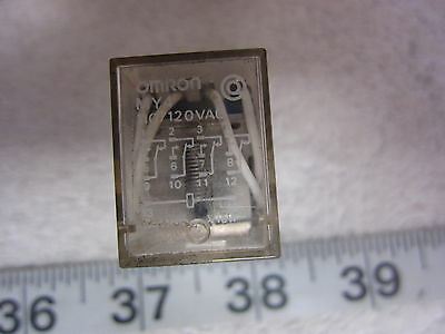 Omron MY4 14-Pin 110V Coil Relay, Used