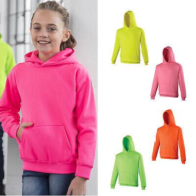 AWDis Just Hoods Boys Girls Kids Electric Hoodie Hooded Jumper
