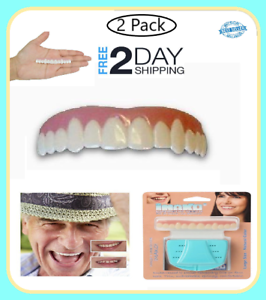 Details about 2 Pack PRO Cosmetic Upper Teeth Snap-On Smile Safe Makeover  Dental Natural Cover