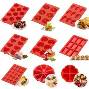 Silicone-Cupcake-Mold-Muffin-Pan-Cake-Candy-Chocolate-Pastry-Baking-Tray-Mould