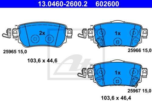 Garnitures Arrière ø290 RENAULT KADJAR Nissan 3999629 UAT Disques De Frein