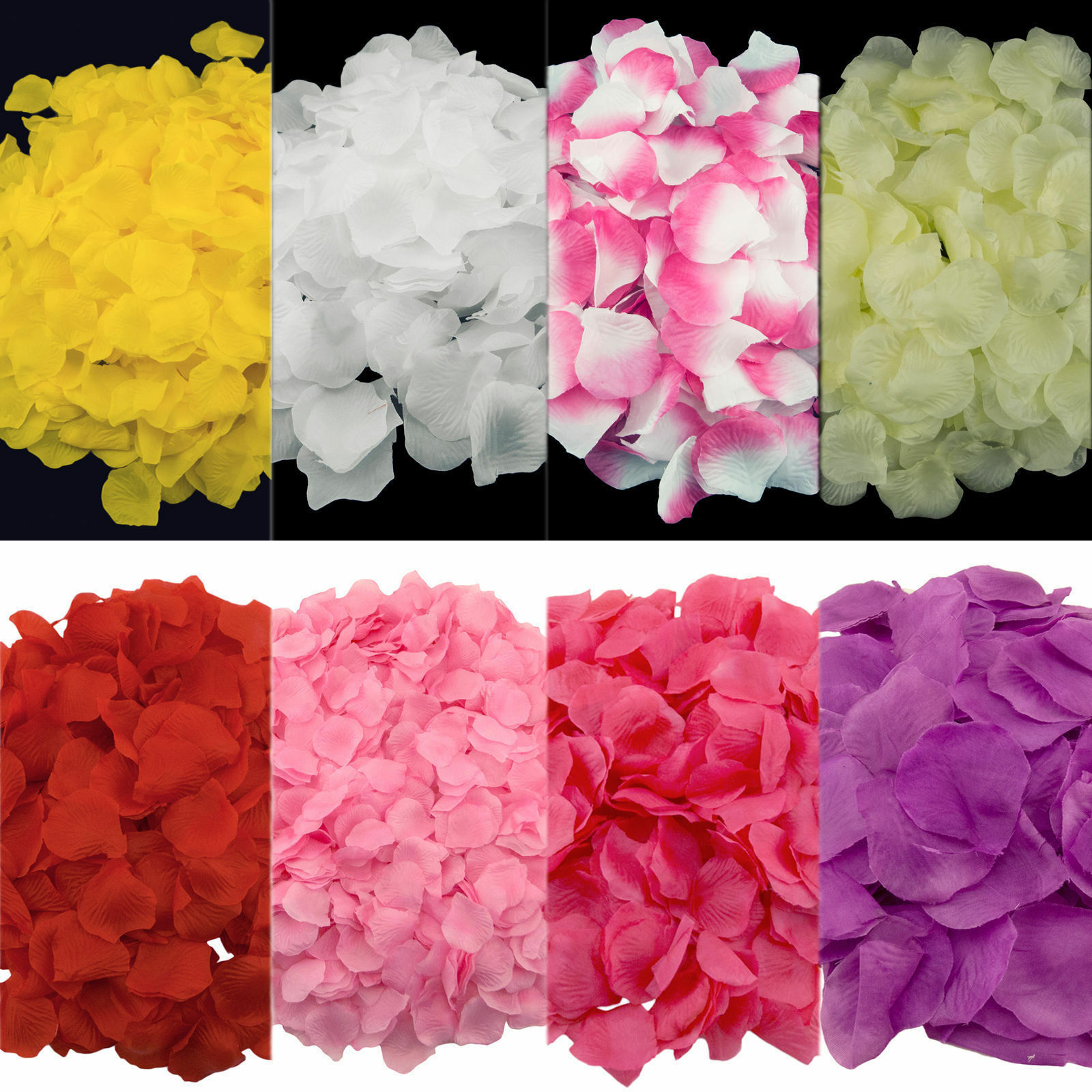 200 5000pcs various multi colors silk rose flower petals for Multi colored rose petals