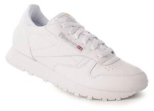 Reebok-WMNS-CLASSIC-LEATHER-Sneaker-Donna-Scarpa-Tempo-Libero-Sport-Lacci-Bianco