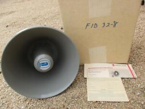 FID-32-8 University Sound 32 Watt HORN 8 Ω Paging Talk Back Speaker Vintage EV