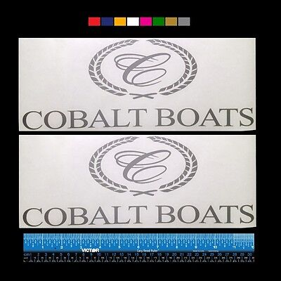 """more 2 GLASTRON  Boats Marine HQ Decals 12/"""" TWO Silver Metallic"""