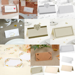 Details About Wedding Party Place Cards Stationery Table Name Rustic