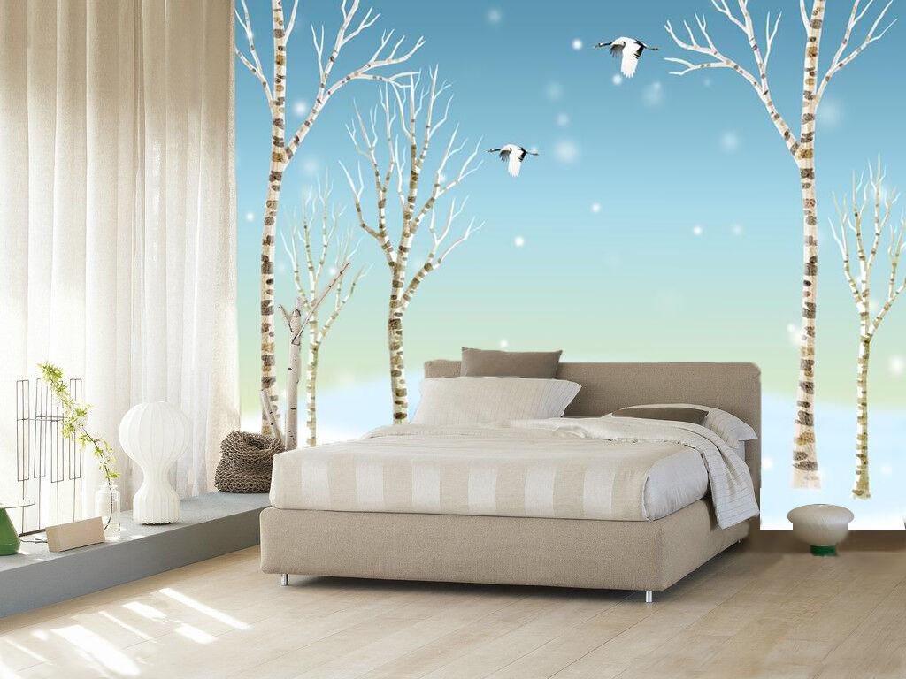 3D Sky Snow Tree 883 Wallpaper Mural Paper Wall Print Wallpaper Murals UK