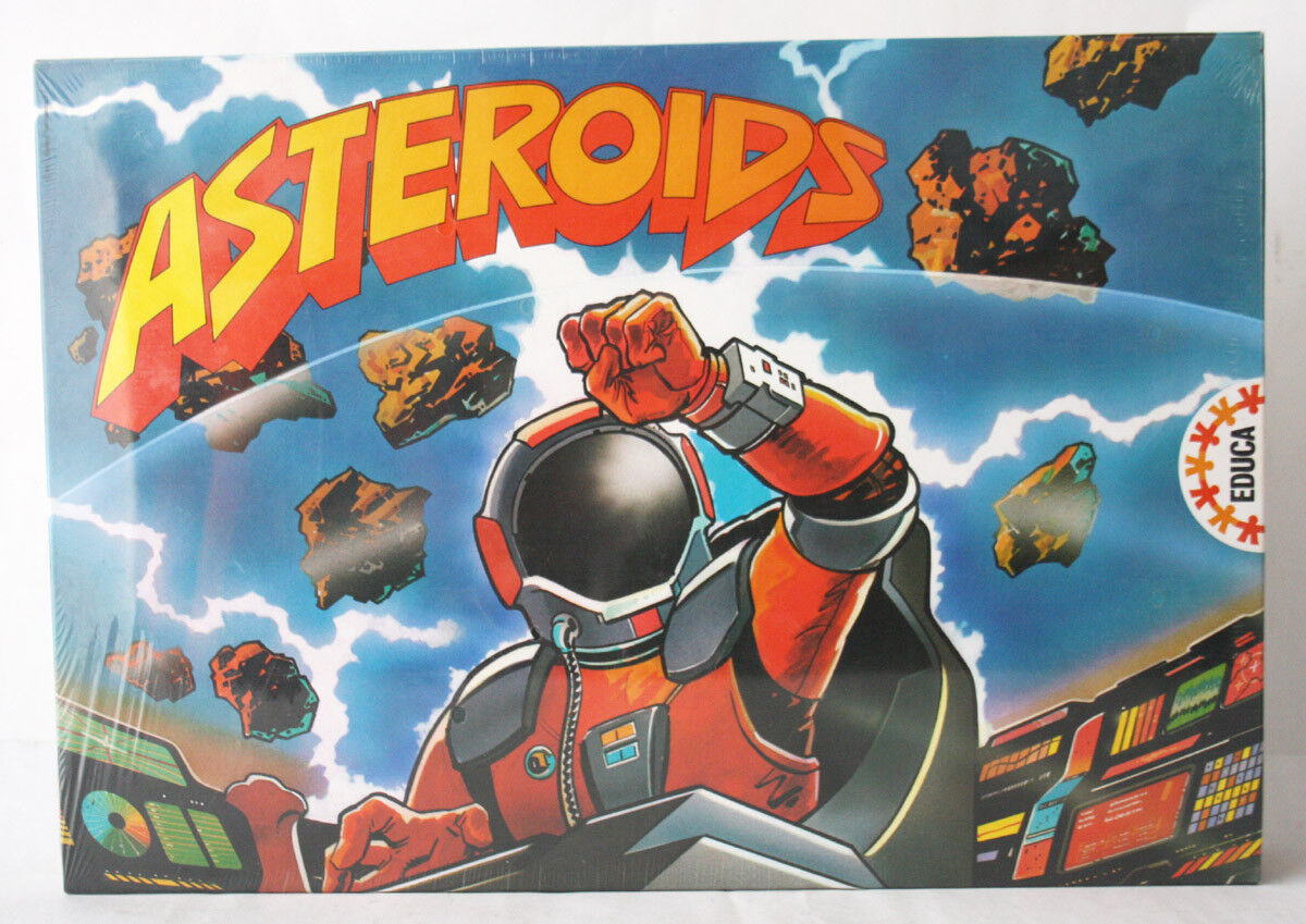 Vintage Rare 1990 astéroïdes Space Board Game par Educa Espagne neuf scellé