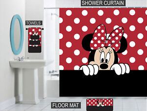 Minnie Mouse Bathroom Set | Details About Peeking Minnie Mouse Bathroom Decor Each Piece Sold Separately Or As A Set