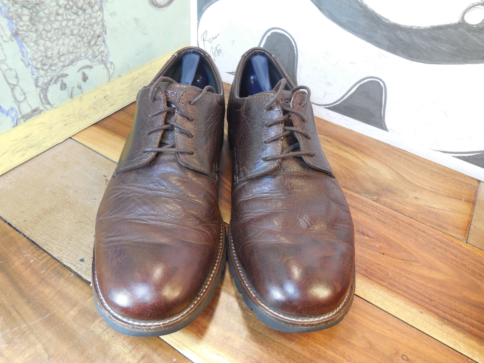Rockport Leather Walkability Trutech Brown Leather Rockport Oxfords Men's 11.5M V74225 c83e90
