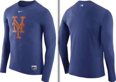 NIKE MEN/'S HYPERCOOL DRI FIT FITTED T SHIRT NEW YORK METS 387683 010