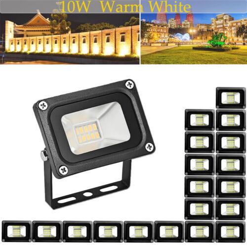 20 Set 20W LED Flood Light Outdoor Landscape Lamp Warm White Garden Fixtures US