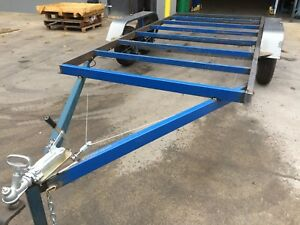 Brand-New-Budget-Car-Trailer-Flat-bed-Frame-Tandem-axle-14X6-6FT-2T-USE4-RACE