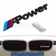 Black Metal 3D Power Logo Front Grille Badge Emblem For BMW 3 5 7 Series X13 5 0
