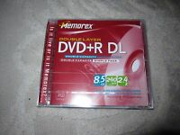 Lot Of 5 Memorex Dvd+r Dl Double Layer 8.5 Gb 240 Min Video Recordable Discs