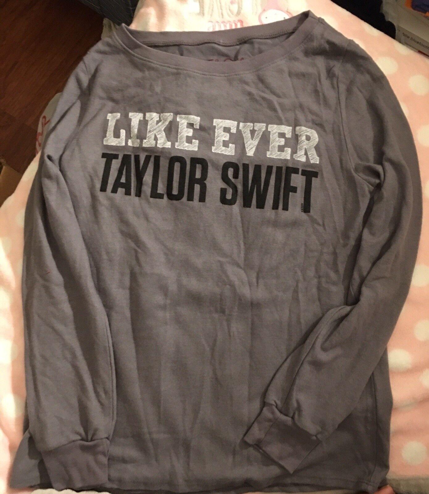 2 pkg Taylor Swift Like Ever Long Sleeve top Shirt Sweater Größe Small