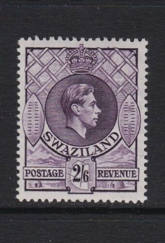 Swaziland SG36a 2s6d violet Perf 13 12 x 14 lightly mounted mint 32