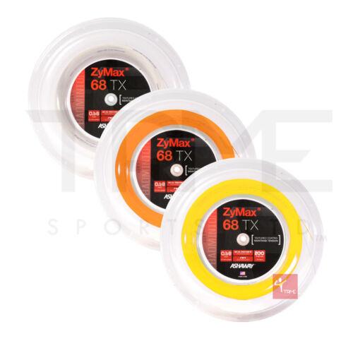 Ashaway ZyMax 68 TX Badminton 200m Reel (Available in Orange,White,Yellow)