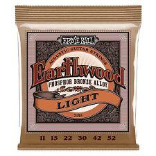 Ernie Ball 2148 Earthwood Acoustic Phosphor Bronze Guitar Strings 11-52