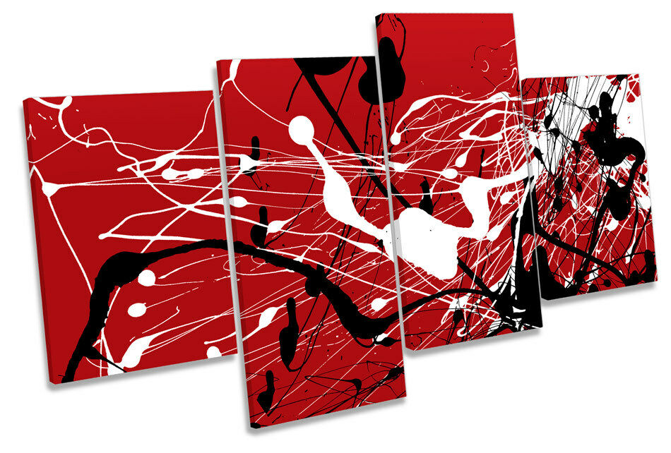 Abstract Ink Splash MULTI CANVAS WALL ART Boxed Framed