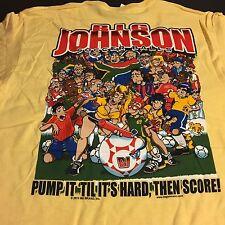 Big Johnson Soccer Balls Vintage T-Shirt New  Medium  Funny T-Shirt