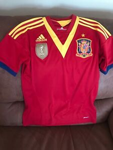Details about Adidas Spain 2010 Worldcup Champions Soccer Jersey Size L 14/16 Youth