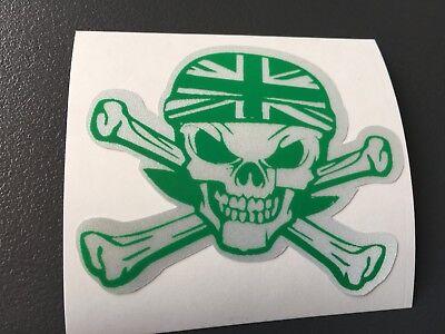 Adesivo Catarifrangente Teschio Cranio Pirata Casco Jack Motocicletta Grigio / Ricambio Senza Costi A Qualsiasi Costo