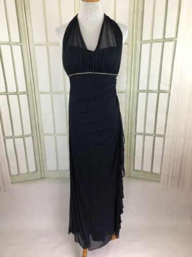 Medium Vintage Betsy and Adam Sequin Lace Ruffled Dress