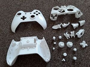 Details about White Xbox One Controller Replacement Full Shell Middle  Bracket & Buttons Set