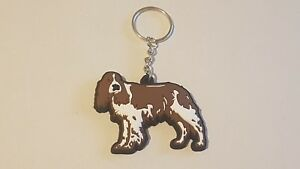Brown-and-White-Springer-Spaniel-Dog-Key-ring-Xmas-Gift-Present-Key-Ring