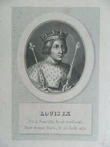 Antik Gravur XIX Porträt Louis Ix Ménard & Desenne Circa 1824