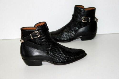 Tressé Pointues T 38 Cuir Noir Tout Boots Tbe Paris Johnny Guitar BqwfPCY