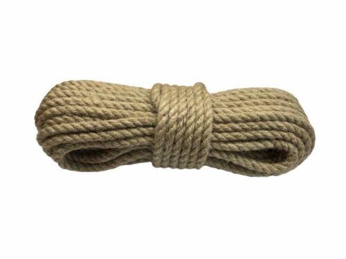 JUTESEIL Naturfasern Tau fi 14mm //20 Meter Seil