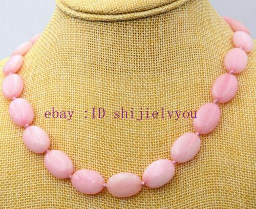 "Naturel Ovale 13x18mm Rose Rhodochrosite Gems Ovale Perles Collier 18 /""AA"