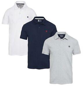 caldera máximo gráfico  Timberland Millers Rivers Mens Cotton Polo Shirt Casual Pique T-shirt Top    eBay