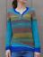 Mode-Femme-Pull-Chandails-Casual-Chaud-Loisir-Bande-Couture-Manche-Longue-Plus miniature 9