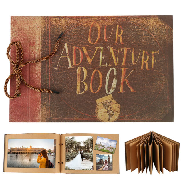 Anniversary Scrapbook DIY Photo Album Our Adventure Book Surprise Gift 80 Page P