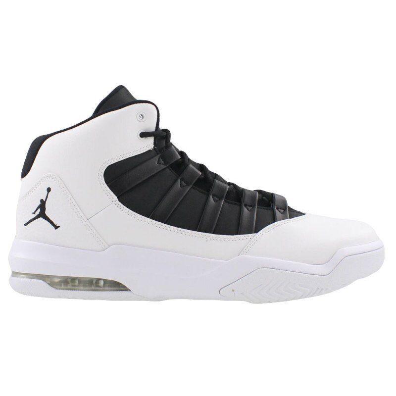 Aq9084-100 air jordan basketball - schuhe mit n und schwarzen max aura 8 - 13 nib