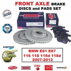 MINTEX FRONT 2004-09 REAR DISCS AND PADS FOR BMW 116 1.6 E87