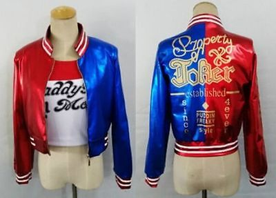 Suicide Squad Harley Quinn Daddy's Coat Lil Jacket Shirt Short Halloween Costume