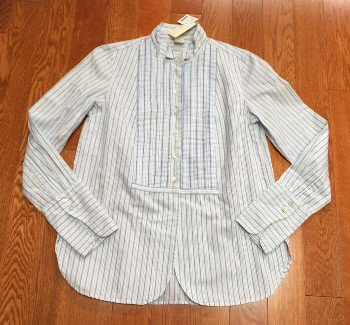 NWT J Crew Striped Cotton Shirt Größe S