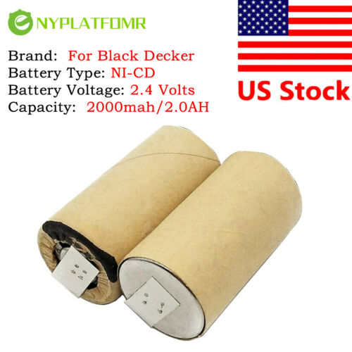 2000mAh for Black Decker 2.4V NiCD Battery pack CD vacuum cleaner V2401 9505-7