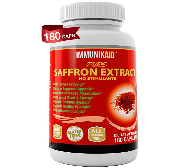 Pure Saffron Supplement Appetite Suppressant 180 Powerful Natural
