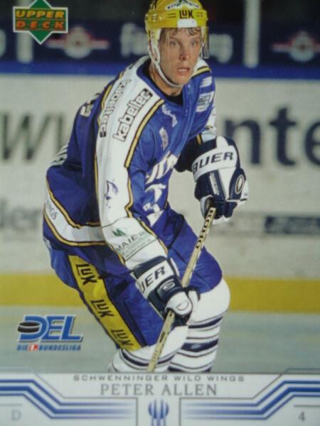 227 Peter Allen Schwenninger Wild Wings Del 2001-02 Asciugare Senza Stirare