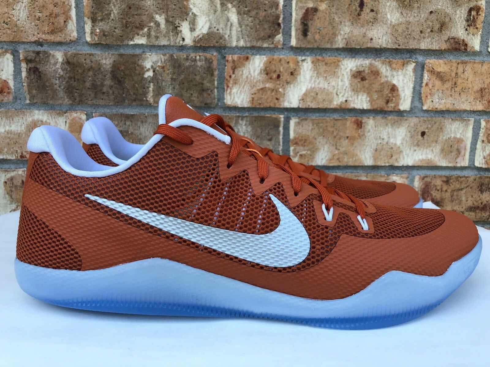 Men's Nike Kobe XI 11 TB Texas Longhorns Desert Burnt Orange Size 18 856485-882