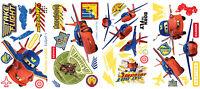 Air Mater & Lightning Mcqueen Hawk Wall Decals Disney Cars Stickers Decor