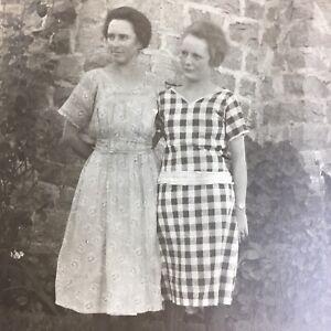 Antique RPPC Photo Postcard Young Women Girls 1920s ID Franklin Sister Folsom CA
