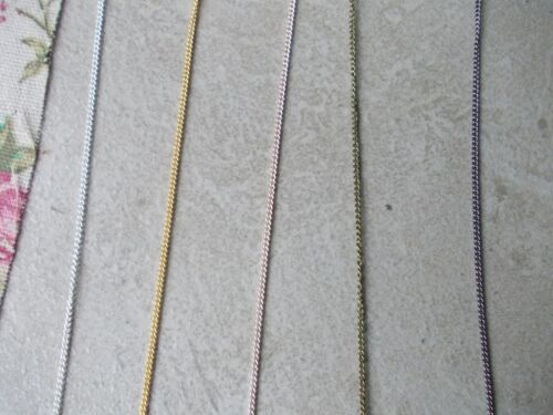 FINE CURB JEWELLERY CHAIN 2 X 1.5MM LINK SILVER,BRONZE CHOSE LENGTH GOLD